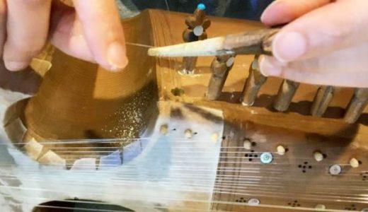 民族楽器ラバーブの共鳴弦交換の方法は?